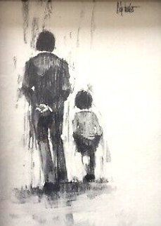 Man Walking With Child Limited Edition Print by Aldo Luongo