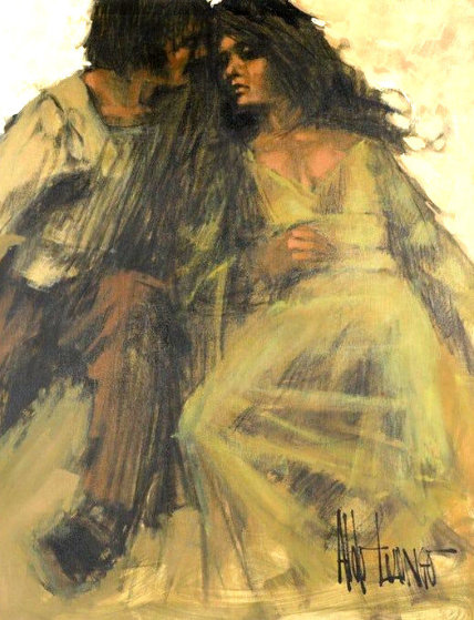 Love in the Park 1969 Original Painting by Aldo Luongo