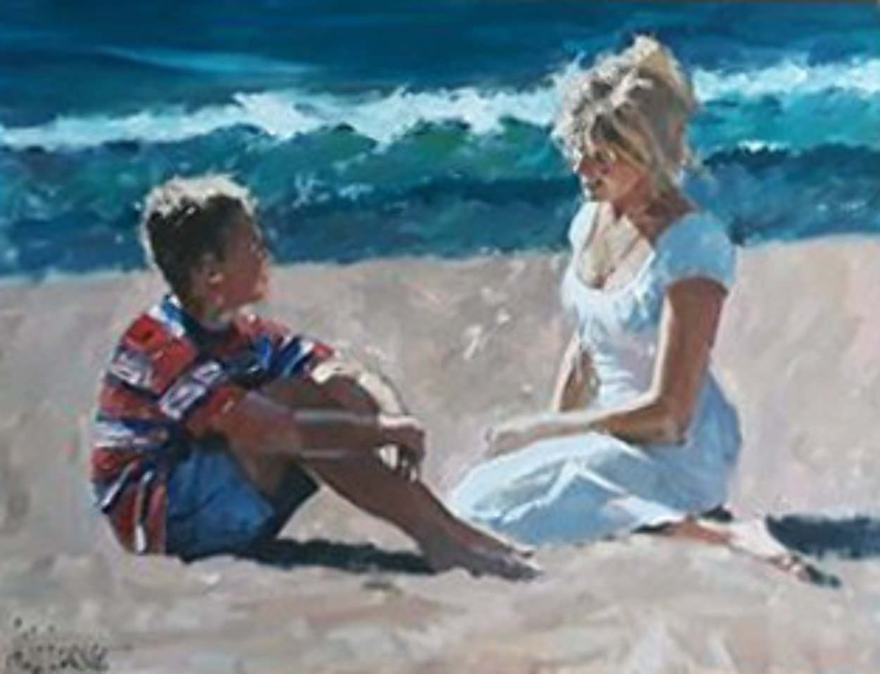 Summer Whispers 30x40 Super Huge Original Painting by Aldo Luongo