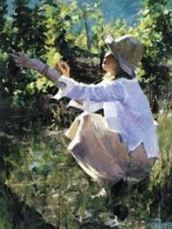 In the Vineyards Embellished Limited Edition Print by Aldo Luongo