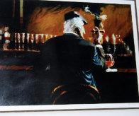 Smoke Bar II 2000 Embellished Limited Edition Print by Aldo Luongo - 2