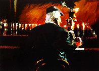 Smoke Bar II 2000 Embellished Limited Edition Print by Aldo Luongo - 0