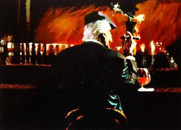 Smoke Bar II 2000 Embellished Limited Edition Print by Aldo Luongo
