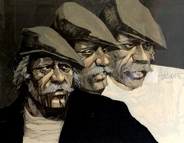 Three Faces of the Hawk Limited Edition Print - Aldo Luongo