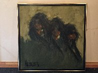 We Three 1970 38x38 Original Painting by Aldo Luongo - 1