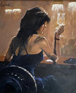 Night Out 48x42 Huge  Original Painting - Aldo Luongo
