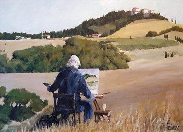 Hawk in Napa 38x49 Original Painting - Aldo Luongo