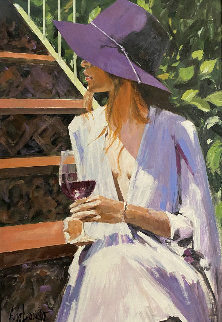 Amethyst Afternoon 32x24 Original Painting by Aldo Luongo