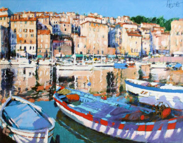 European Port 1988 43x48 Super Huge  Limited Edition Print - Aldo Luongo