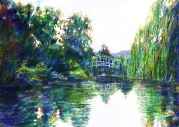 Homage to Monet 1987 Huge 44x56 Limited Edition Print - Aldo Luongo