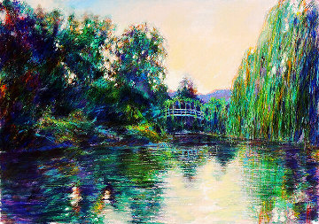 Homage to Monet w/ Remarque 1987 Limited Edition Print - Aldo Luongo