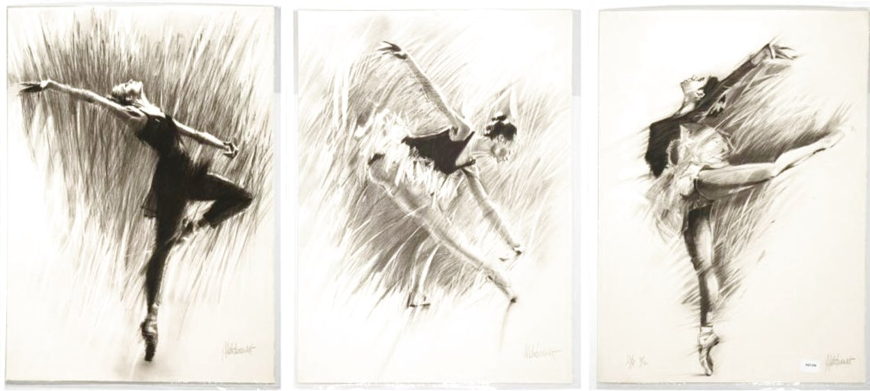 Ballerina Suite of 3 1988 Limited Edition Print by Aldo Luongo