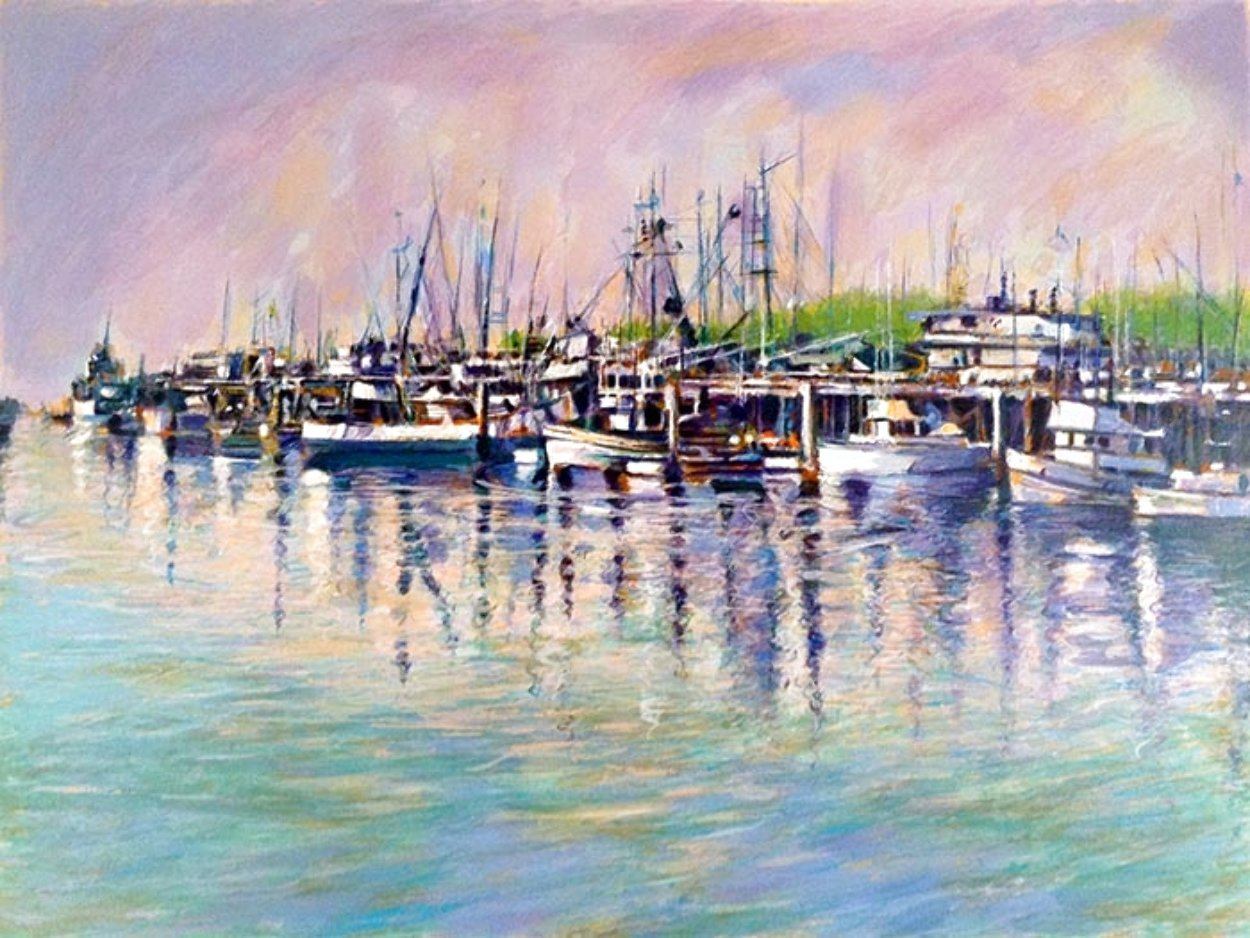 Fishing Harbor PP Limited Edition Print by Aldo Luongo