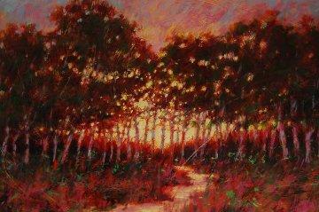 Delta Dusk Sacramento California 1992 20x30 Original Painting - Aldo Luongo