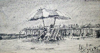 California Beach Drawing 1978 Drawing by Aldo Luongo - 0