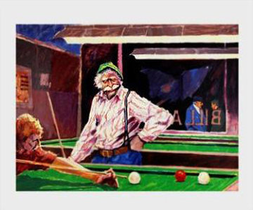 Billiards At Cafe Palermo Limited Edition Print - Aldo Luongo