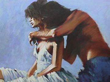 Lovers 40x49 Original Painting by Aldo Luongo