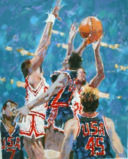 Jump to Victory 1988 Limited Edition Print by Aldo Luongo