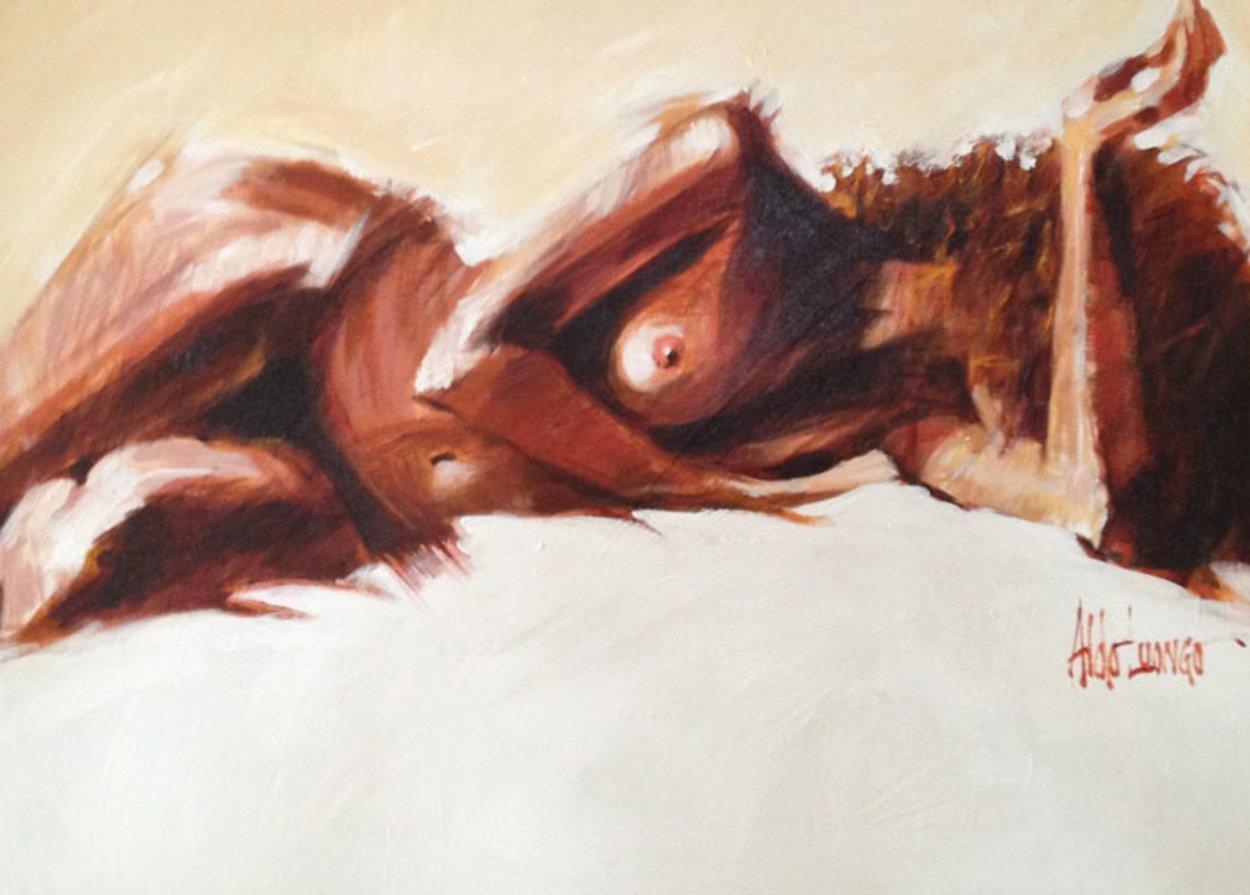 Striking 1997 35x43 Huge Original Painting by Aldo Luongo