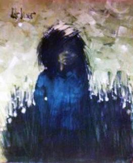 Evita Peron, Argentina  1972 40x30 Original Painting by Aldo Luongo