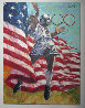 American Team Soccer 1996 36x48 Original Painting by Aldo Luongo - 1