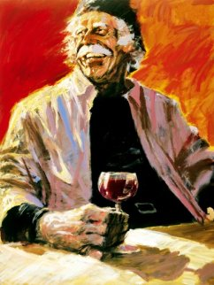 Good Glass of Red 1998 Limited Edition Print - Aldo Luongo