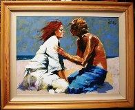 Lovers 2008 36x48 Original Painting by Aldo Luongo - 1