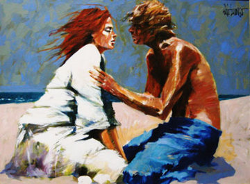 Lovers 2008 36x48 Original Painting by Aldo Luongo