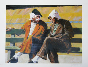 Telling Stories on a Park Bench AP 2008 Limited Edition Print - Aldo Luongo