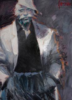 Last Days of 44 1995 41x52  Huge Original Painting - Aldo Luongo
