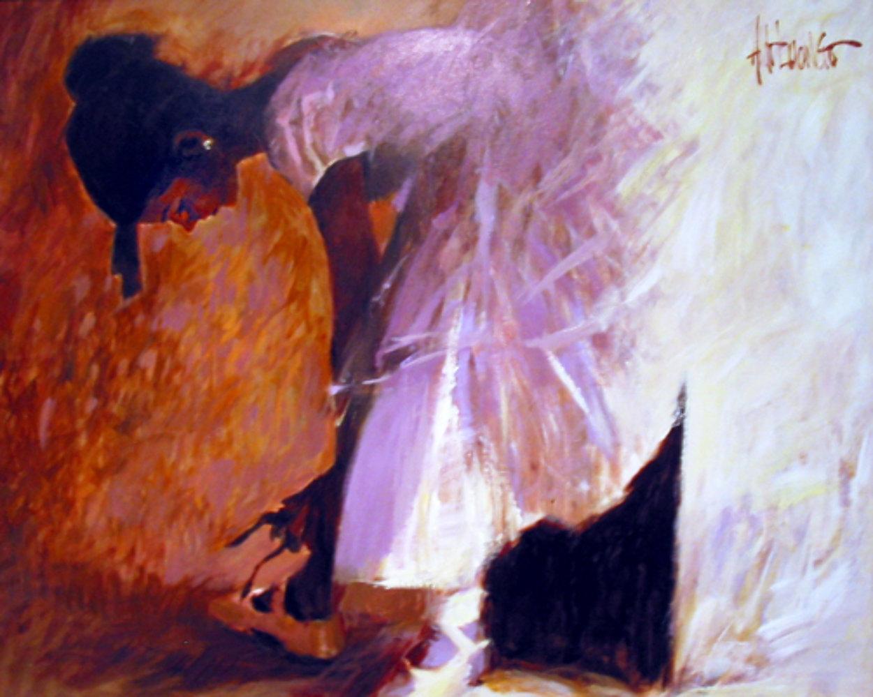 Ballerina 28x35 Original Painting by Aldo Luongo