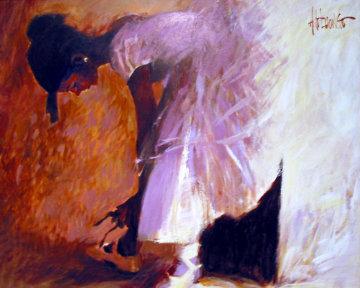 Ballerina 28x35 Original Painting - Aldo Luongo