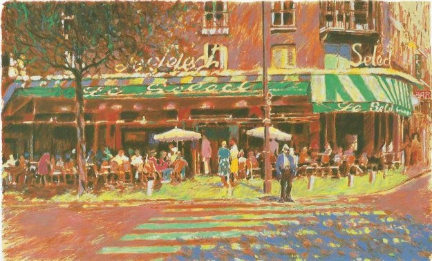 Cafe Select AP 1986 Limited Edition Print by Aldo Luongo
