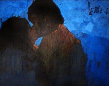 Sunday Night Monday Morning  1970 68x58 Huge Original Painting - Aldo Luongo