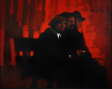 La Uveltade Rocha 1970 64x52 Super Huge Original Painting - Aldo Luongo