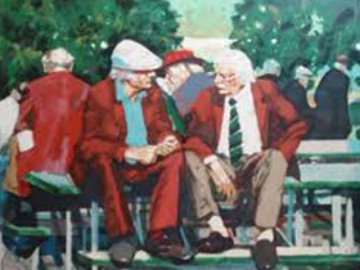 Conversation AP 1989 Limited Edition Print by Aldo Luongo