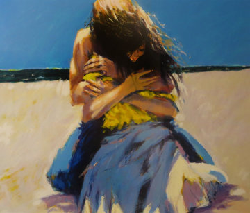Young Lovers,  Remarque 1987  Limited Edition Print - Aldo Luongo