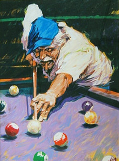 Billiards 1996 Limited Edition Print - Aldo Luongo