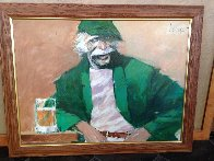 Hawk 1990 46x36 Huge Original Painting by Aldo Luongo - 1