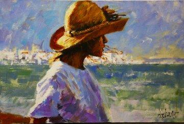 Ocean Girl 20x30 Original Painting - Aldo Luongo