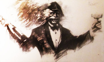 La Dolce  Drawing 1980 36x26 Drawing - Aldo Luongo