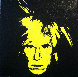 Self Portrait (Fright Wig Yellow) 2008 12x12 Original Painting by Charles Lutz - 0