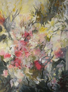 Walking With Vivaldi 2014 40x40 Huge Original Painting - Lydia Miller