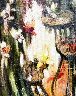 Water Lilies 2004 54x45 Super Huge  Original Painting - Nikolay Semenovich  Lysak