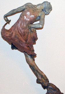 Red Dress 1/2 Life Size Bronze Sculpture 2001 Sculpture by Richard MacDonald