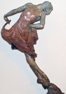 Red Dress 1/2 Life Size Bronze Sculpture 2001 40 in  Sculpture - Richard MacDonald