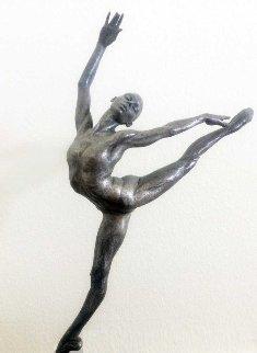 Sissone Platinum Patina Sculpture  28 in Sculpture by Richard MacDonald