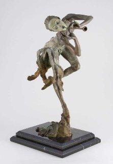Trumpeter 1/4 Bronze Sculpture 19 in Sculpture by Richard MacDonald