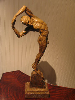 Jesse Bronze Sculpture AP 2001 26 in Sculpture - Richard MacDonald