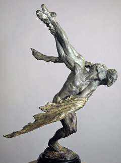 Doves, 1/2 Life Size Bronze Sculpture 1990 40 in Sculpture by Richard MacDonald